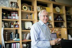 Bill King, candidate for Houston mayor on Friday, May 24, 2019, in Houston, at his home office where he works on his blog.