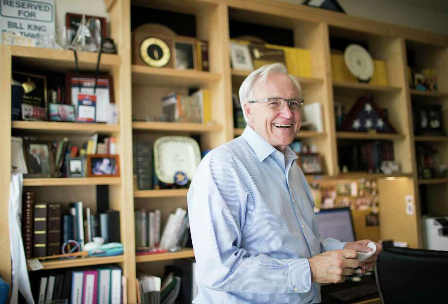 Bill King, candidate for Houston mayor on Friday, May 24, 2019, in Houston, at his home office where he works on his blog. Photo: Marie D. De Jesús, Houston Chronicle / Staff Photographer / © 2019 Houston Chronicle
