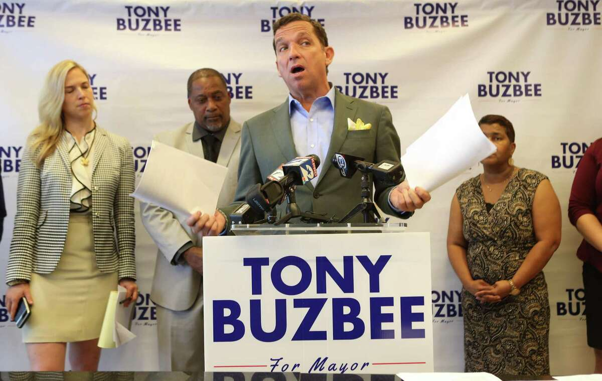 Millionaire lawyer Tony Buzbee, shown here on May 7, 2019, is self-funding his mayoral challenge. As of June 30, he had contributed $7.5 million and spent $2.3 million, according to his campaign finance report.