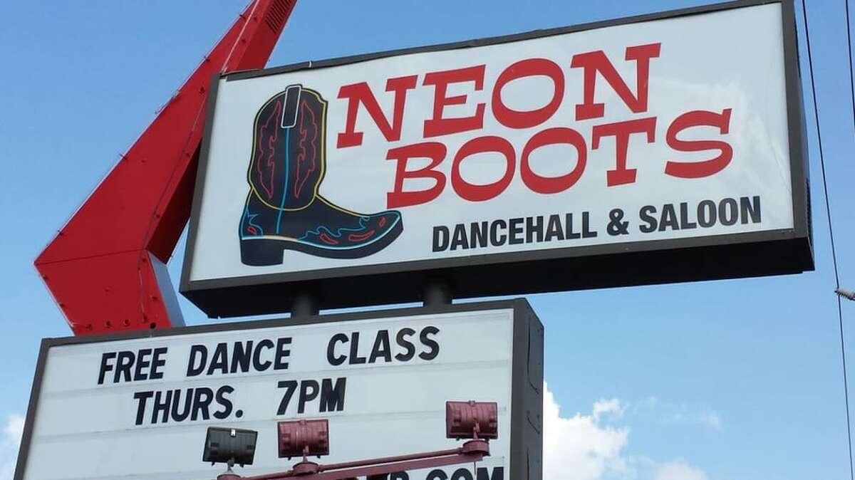 Neon Boots Dancehall & Saloon11410 Hempstead Road, HoustonOpen: 4 p.m. - 12 a.m. Wed. - Thur., 4 p.m. - 3 a.m. Fri., 12 p.m. - 2 a.m. Sat., 12 p.m. - 12 a.m. Sun. Photo by: Neon Boots Dance hall & Saloon/Yelp