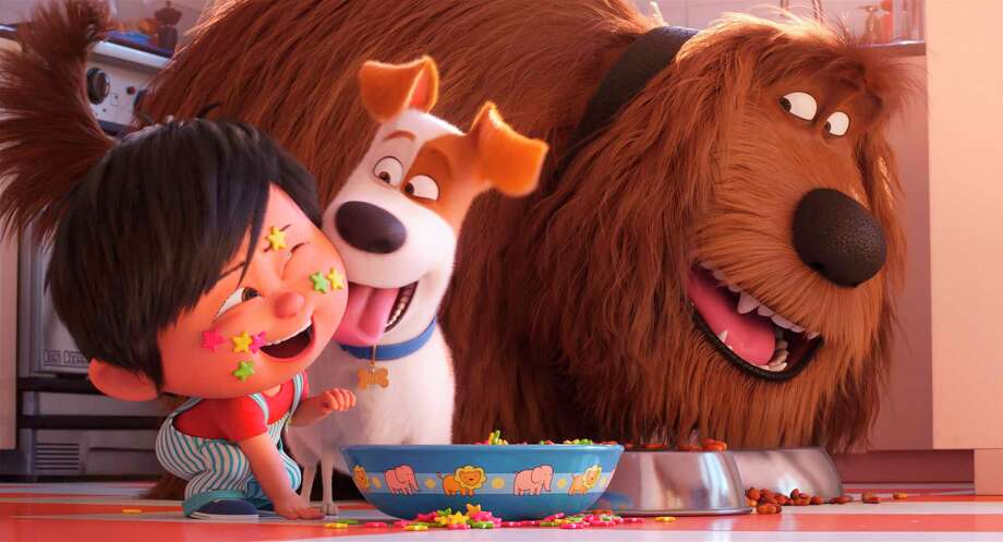 """This image released by Universal Pictures shows Liam, voiced by Henry Lynch, from left, Max, voiced by Patton Oswalt, Duke, voiced by Eric Stonestreet in a scene from """"The Secret Life of Pets 2."""" (Illumination Entertainment/Universal Pictures via AP) Photo: Illumination Entertainment / © 2019 UNIVERSAL STUDIOS"""