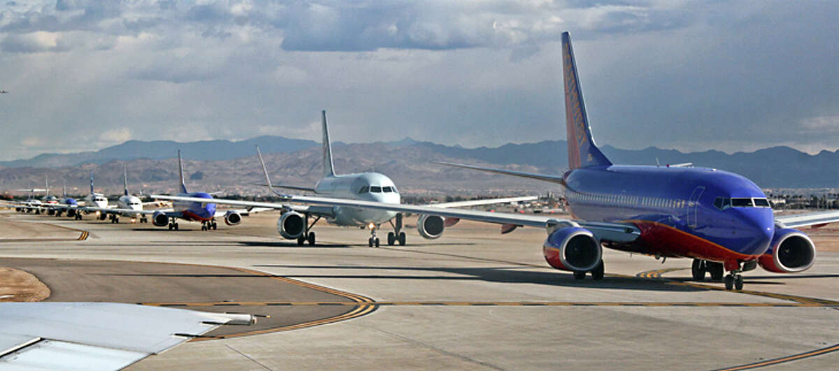 The airline industry is trying to reduce emissions with improved aircraft technology and biofuels.