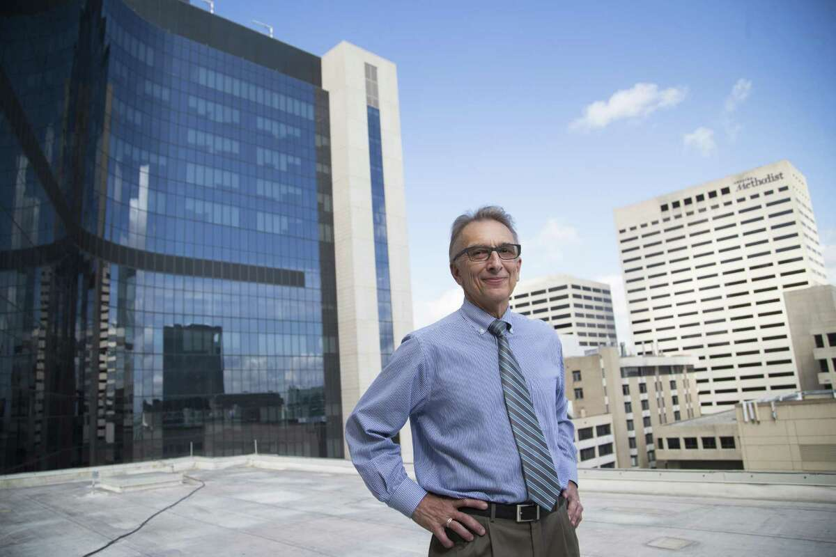 Sidney Sanders, Houston Methodist senior vice president of construction, stands outside the new Walter Tower, a $700 million expansion.