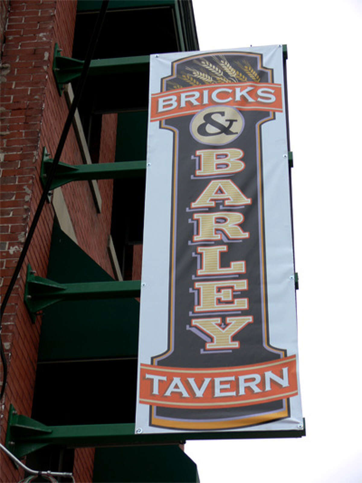 A temporary marquee sign has gone up at Bricks & Barley, the establishment that will replace Downtown Danny O's on Howe Avenue.