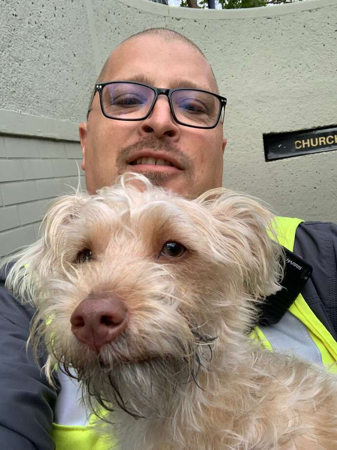 Roofus the cute puppy was rescued Thursday by SF Muni workers. Photo: SFMTA/Twitter