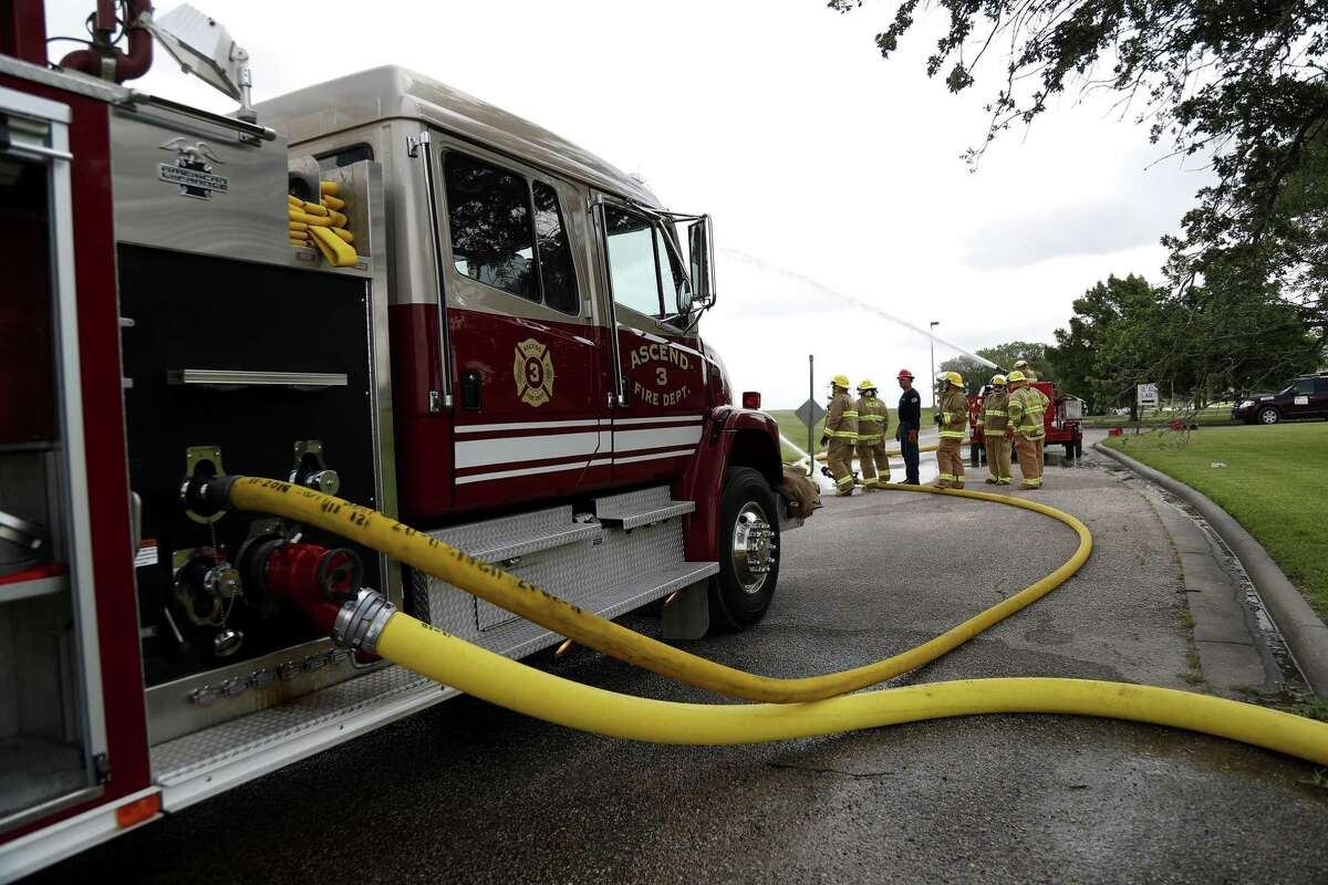 Ascend Performance Materials Chocolate Bayou Fire Department practice pump operation at the Ascend Performance Materials facility, Thursday, May 30, 2019, in Alvin.