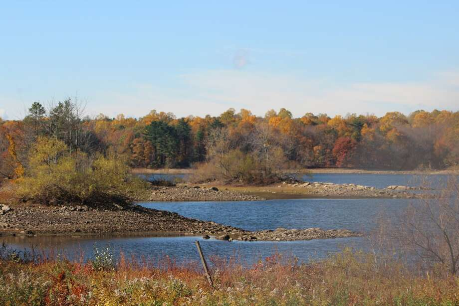 One of the reservoirs managed by Aquarian Water company located on Huntington Avenue.