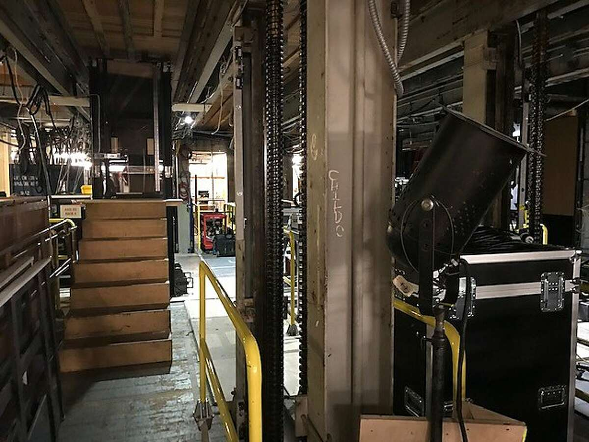 The steps lead up to a trap door, under the stage at the SF Opera