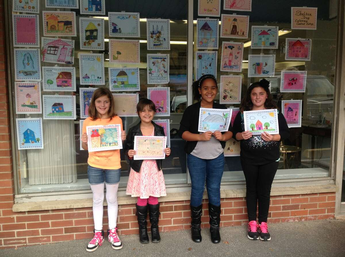 From left to right, 1st prize: Laura Gjaci, 2nd prize: Stephanie Liebensohn, 3rd prize: Kaija Jenkins and runner up Madison delaVega. Missing from the photo are runners up: Jayne Lasky and Bailey Anderson. Thanks to all forty seven children who submitted their artwork.