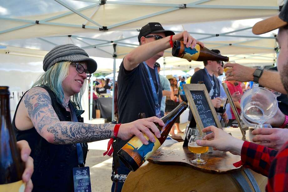 All 3,500 tickets to the Firestone Walker Invitational Beer Festival in Paso Robles on June 1, 2019 were sold out in about 15 minutes. Photo: Alyssa Pereira / The Chronicle