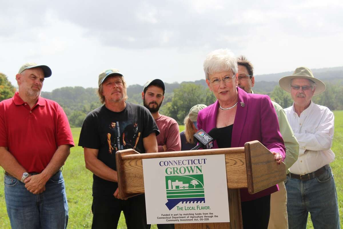 Lt. Gov. Nancy Wyman announced the passing of a new bill designed to protect the rights of the farmers in Connecticut. It is set to go into effect Oct. 1. - Aaron Berkowitz photo