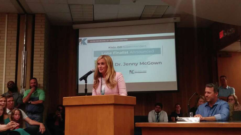 Jenny McGown was chosen as the lone finalist for superintendent of Klein ISD during a special meeting of the board of trustees on June 6, essentially making her the next superintendent for the school district. Photo: Chevall Pryce