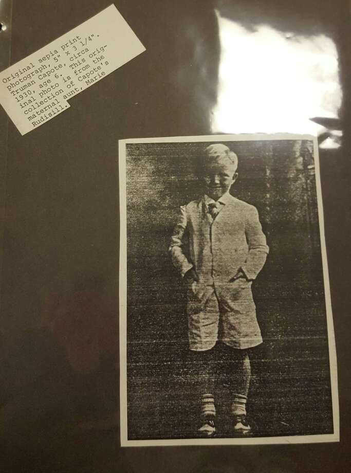 A photograph of Truman Capote as a young boy, from the Greenwich High School collection. Photo: Rose Gallagher / Contributed Photo