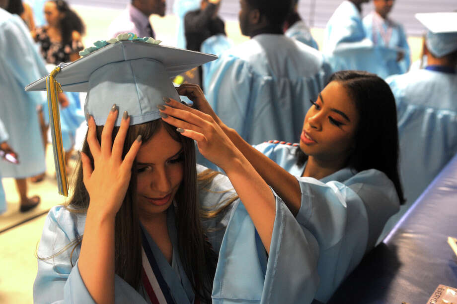Graduation for the Kolbe Cathedral High School Class of 2019, in Bridgeport, Conn. June 6, 2019. Photo: Ned Gerard, Hearst Connecticut Media / Connecticut Post