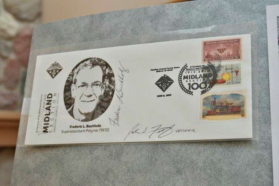 A specially designed envelope features a signature from Fredric Buchholz.(Ashley Schafer/ashley.schafer@hearstnp.com)