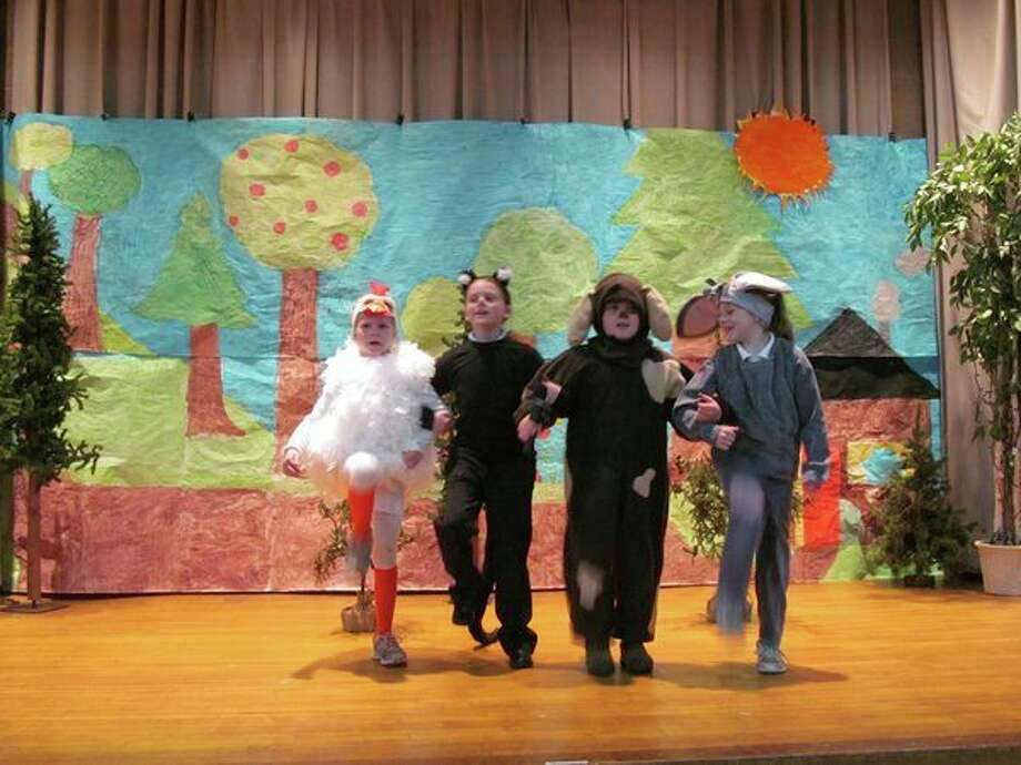 Deborah Waltz's second graders at Blessed Sacrament School performed'Bremen Town Musicians.'(photo provided)