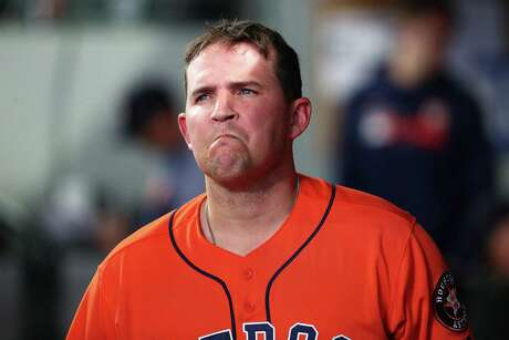 SEATTLE, WASHINGTON - JUNE 06: Will Harris #36 of the Houston Astros reacts after being pulled from the seventh inning against the Seattle Mariners during their game at T-Mobile Park on June 06, 2019 in Seattle, Washington.