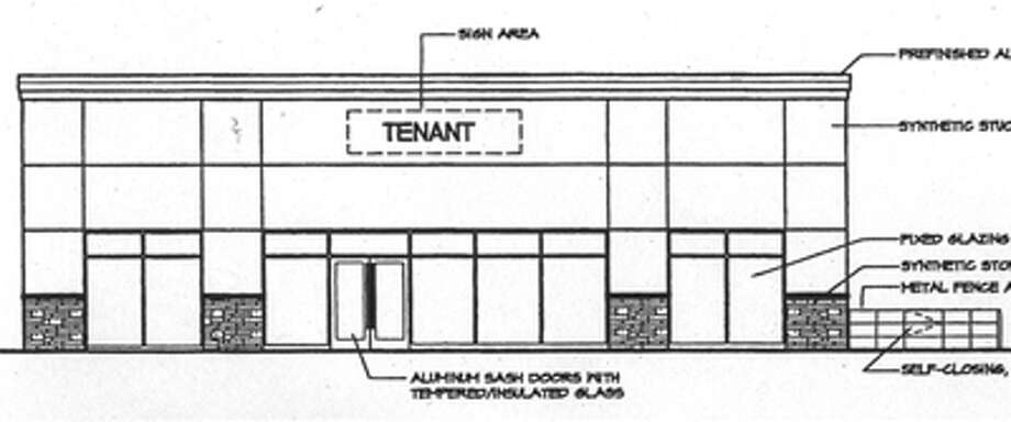 A rendering of what the one-story, 2,400-square-foot structure with a sit-down restaurant would look like at 705-711 Bridgeport Ave., in front of Sears Appliance and Hardware.