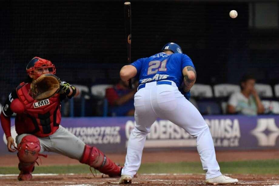 Tecolotes Dos Laredos catcher Arturo Rodriguez Photo: Courtesy Of The Tecolotes Dos Laredos