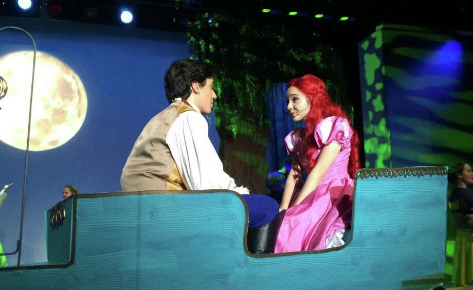 Stephen Casinelli as Prince Eric and Ana Frentress as Ariel.