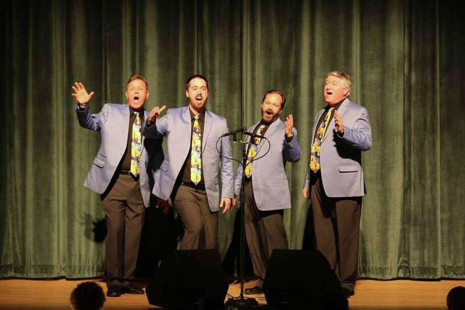 From left are: Victor Lembo, tenor, Beacon Falls; Jordan Kugler, lead, New Haven; Scott Poarch, bass, Newtown, and David Hunter, baritone, Shelton.