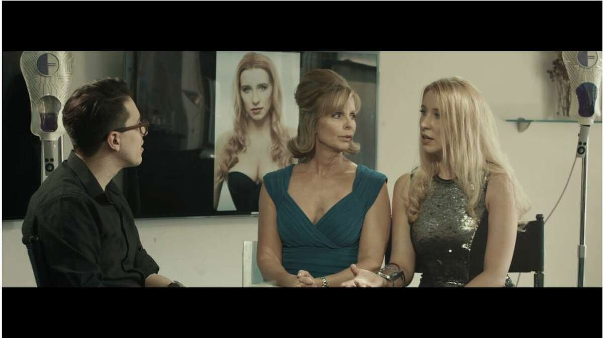 Shelton actress Anna Lakomy (right) stars opposite Julia Montgomery (left) (One Life to Live, Revenge of the Nerds) in an edgy sci-fi short entitled