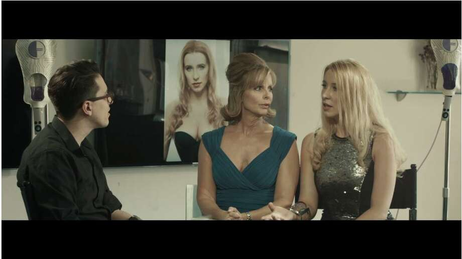 """Shelton actress Anna Lakomy (right) stars opposite Julia Montgomery (left) (One Life to Live, Revenge of the Nerds) in an edgy sci-fi short entitled """"Appetence."""""""