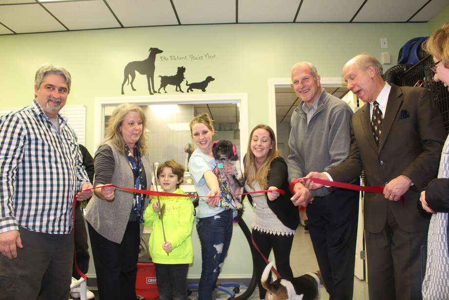 The Patrick family/Doggie Styles staff was joined at their grand opening by Mayor Lauretti, Bill Purcell and some of their loyal clients - Aaron Berkowitz photo
