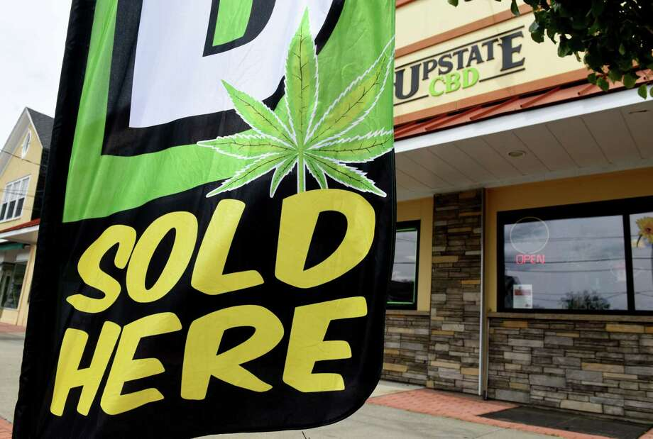 Exterior of Upstate CBD on Upper Union Street store on Tuesday, June 4, 2019, in Schenectady, N.Y. The shop offers CBD hemp buds, edibles, extractions, topicals and pet products. Store owner Donald Andrews hopes the business will give him a foothold should New York legalize recreational marijuana. (Will Waldron/Times Union) Photo: Will Waldron, Albany Times Union / 40047118A