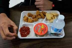 A school lunch.