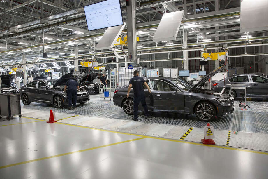 The new BMW plant in San Luis de Potosi ,Mexico, on June 6, 2019. Photo: Bloomberg Photo By Alejandro Cegarra / Bloomberg