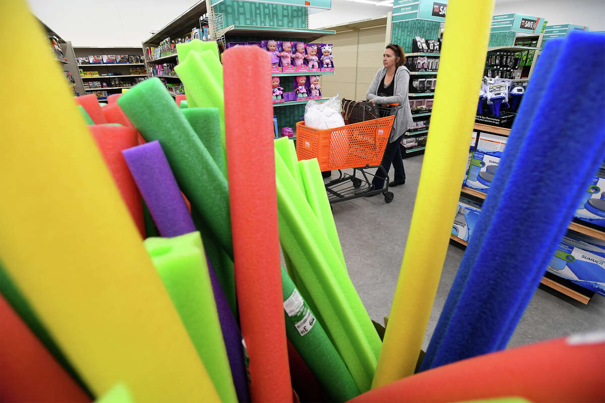 Miriam Morgan shops at Beaumont's new Big Lots early Friday morning. While the store opened two weeks ago, a grand opening was held Friday. Photo taken Friday, 6/7/19