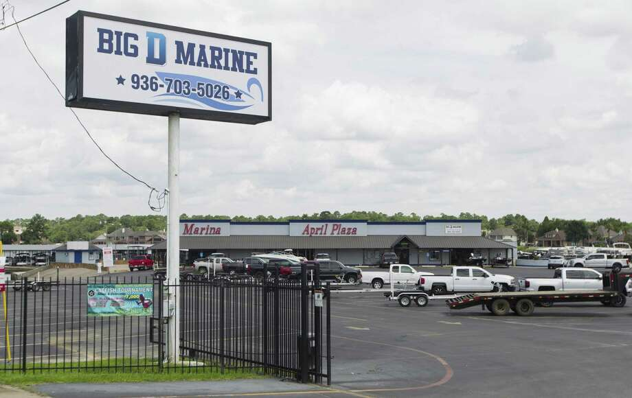 Big B Marine & Powersports is seen along Texas 105 on Lake Conroe, Tuesday, June 4, 2019, in Montgomery. The Huntsville based company recently purchased the former April Plaza Marina to expand to its second location. Photo: Jason Fochtman, Houston Chronicle / Staff Photographer / © 2019 Houston Chronicle