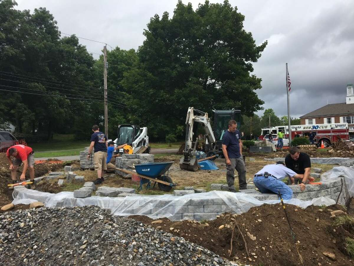 Huntington Fire Company members are volunteering to help build the memorial, which could be complete by October.