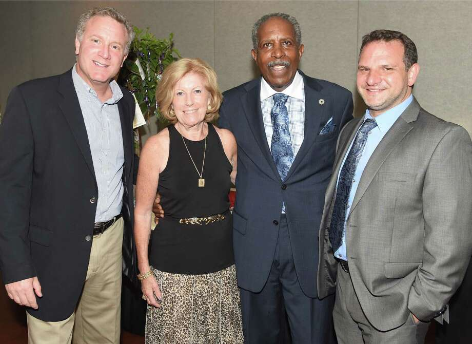 In this file photo, left to right; Adam Sappern, Pietrina Sappern, Connecticut Supreme Court Justice Lubbie Harper, Jr. and Giovanni Spennato at the 16th annual Yale Sappern Memorial Fund Dinner fundraiser at Anthony's Ocean View in New Haven May 28, 2015. Justice Harper was being honored at the event and proceeds from the event were to benefit the Yale Sappern Memorial Fund, which underwrites student intern positions that provide legal support to victims of domestic violence as they navigate the complexities of the state Family Court system. Photo: Peter Hvizdak / Hearst Connecticut Media File Photo / ©2015 Peter Hvizdak