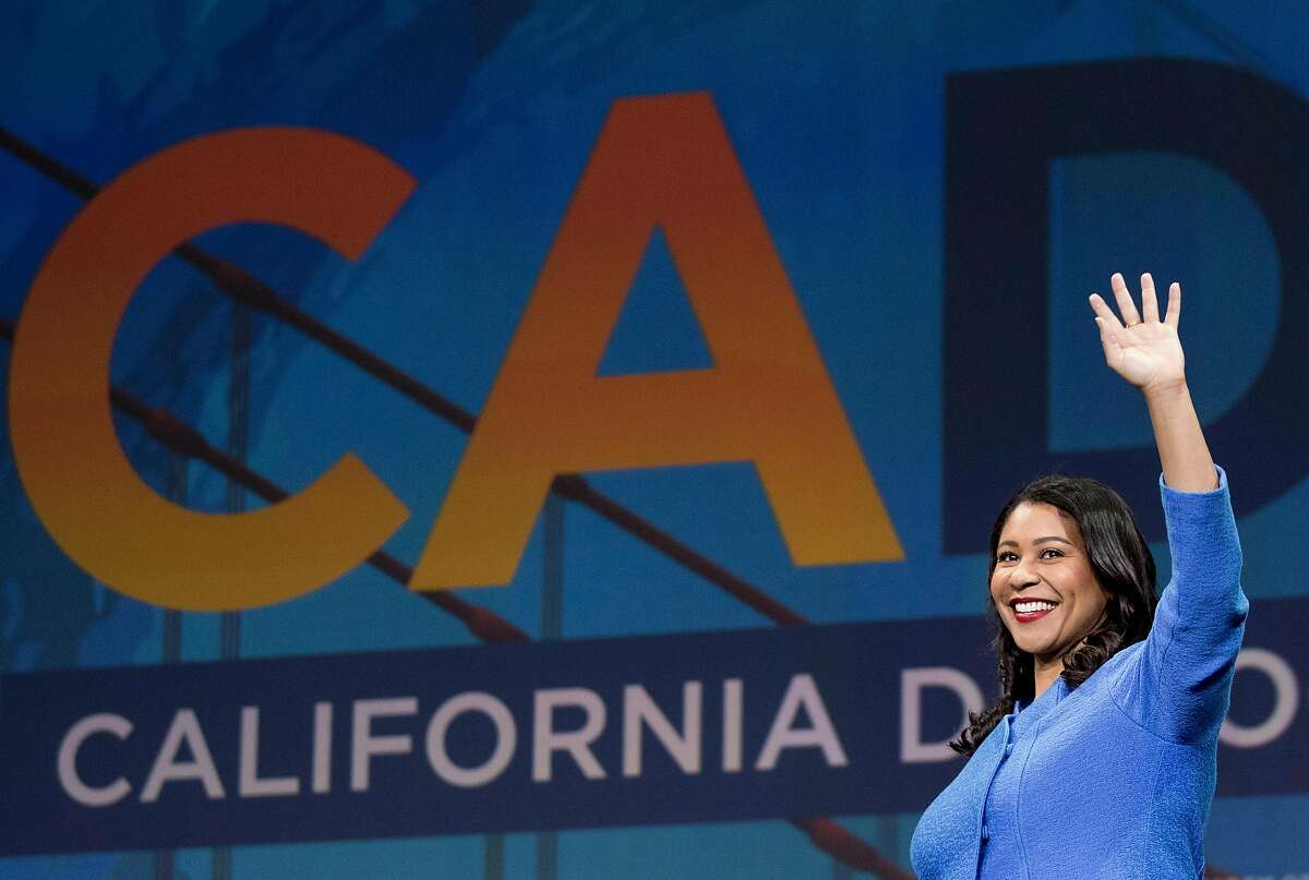 San Francisco Mayor London Breed walks onto the stage during the general session of the California Democratic Convention held at Moscone North in San Francisco, Calif. Saturday, June 1, 2019.