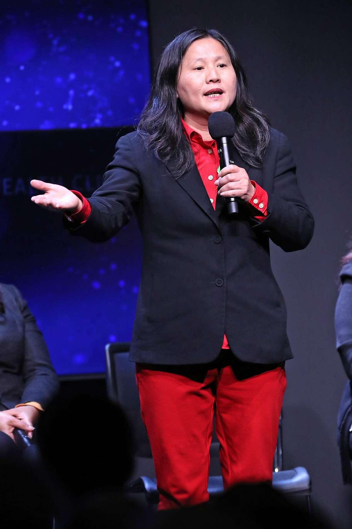 Ellen Lee Zhou during San Francisco mayoral debate at Commonwealth Club in San Francisco, CA on Monday, May 14, 2018.