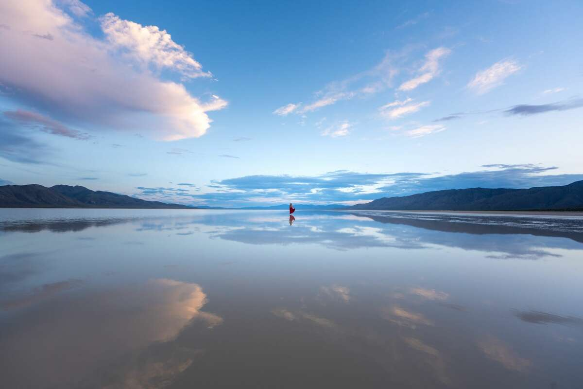 Reno-based professional photographerJustin Majeczky captured images in June 2019 of an unusually large body of water stretched across Nevada's Black Rock Desert. Quinn Lake forms every year after heavy rains, but in 2019 after a wet winter, it spilled its banks and spread across the desert Playa.
