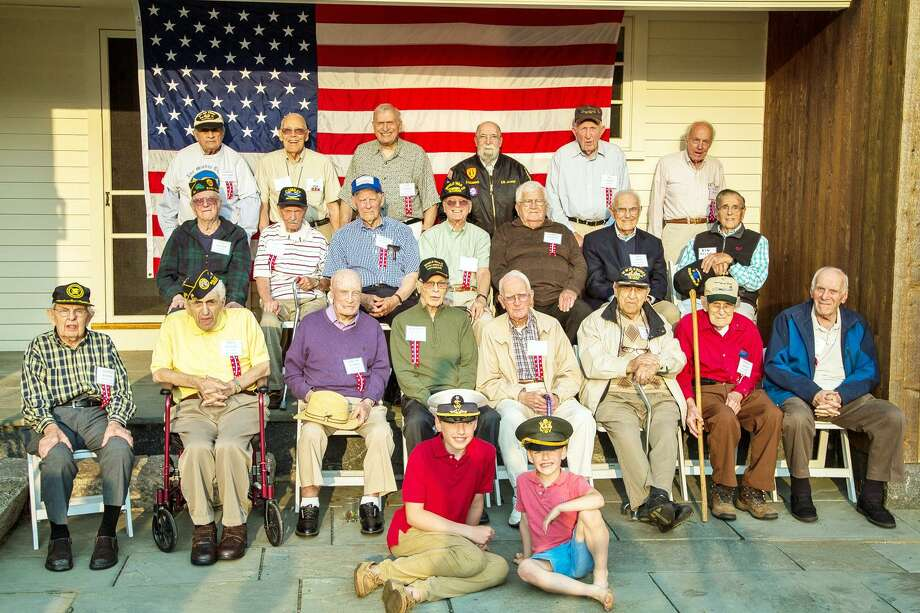 For the past eight years, Margaret McCutcheon Faber and her husband Pierre Faber have welcomed WWII veterans into their Middle Haddam home for a barbecue to celebrate contributions of the Greatest Generation. Photo: Margaret McCutcheon Faber Photo