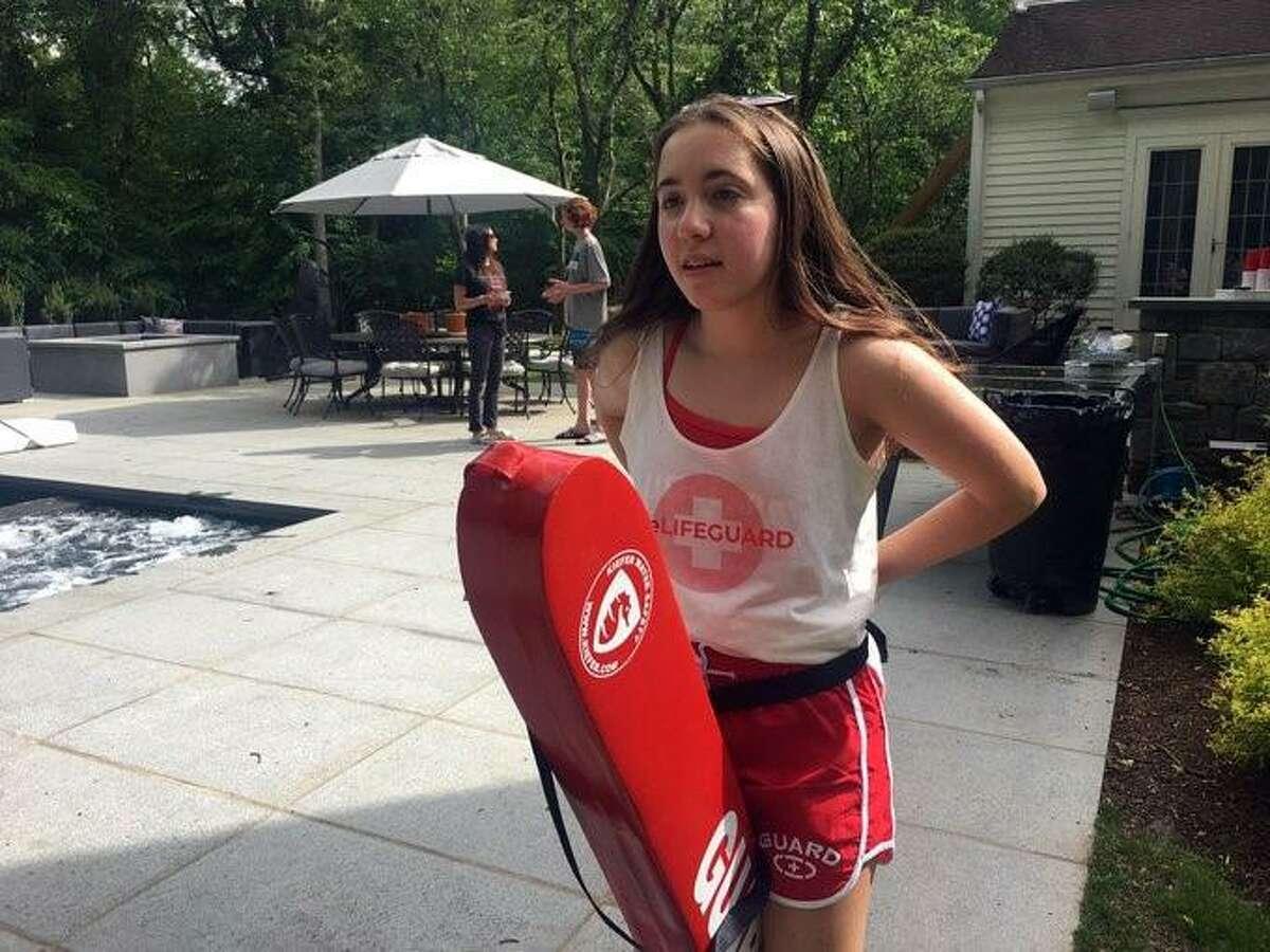 Westport resident Daria Maya has started her own lifeguard business named WeLifeguard.