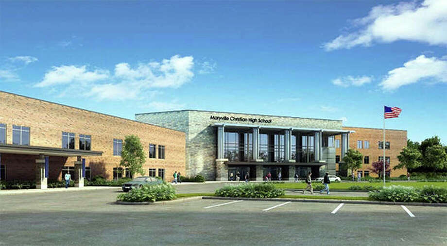 An artist's rendering of the planned three-story addition to Maryville Christian School. Photo: Submitted Courtesy Of Maryville Christian School