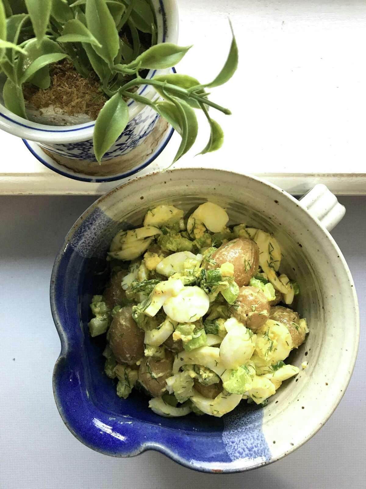 Mustard Vinaigrette Potato Salad with Egg