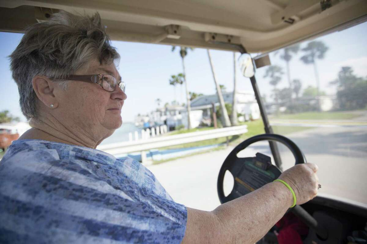 Flora Gunderson a Long Island Village neighbor drives around her community on Friday, March 22, 2019, in Port Isabel. Gunderson opposes liquefied natural gas plants in the Rio Grande Valley area.