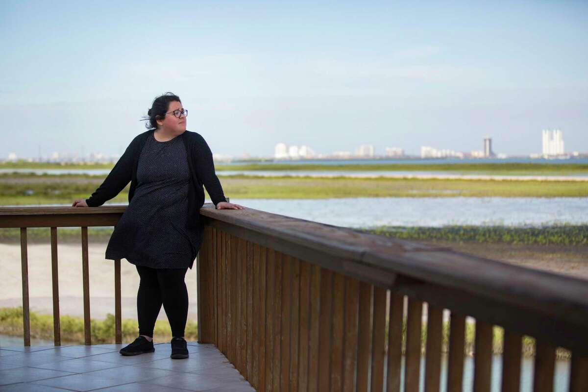 Rebekah Hinojosa, 27, Sierra Club Brownsville organizer who opposes liquefied natural gas plants in the Rio Grande Valley area. Friday, March 22, 2019, in Port Isabel.