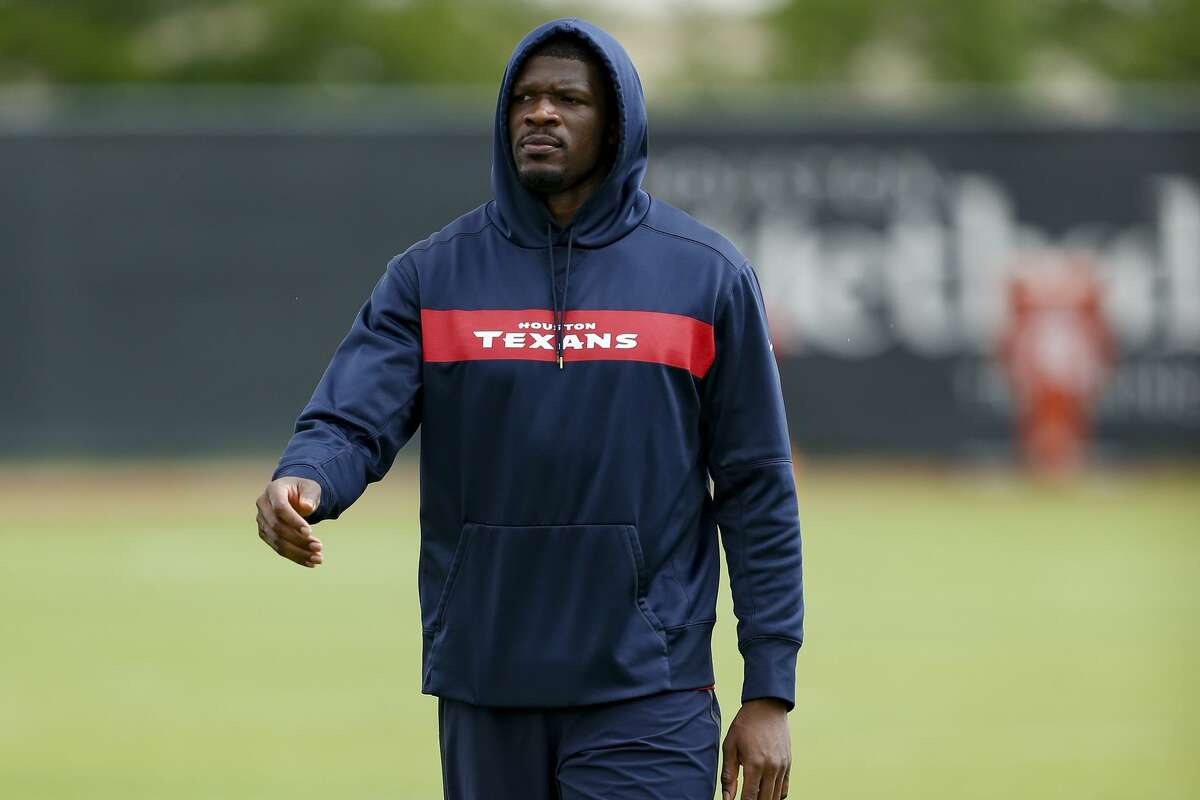 Andre Johnson, the inaugural member of the Texans' Ring of Honor, has the knowledge gained from 14 seasons of NFL experience to pass on to the team's young receivers.