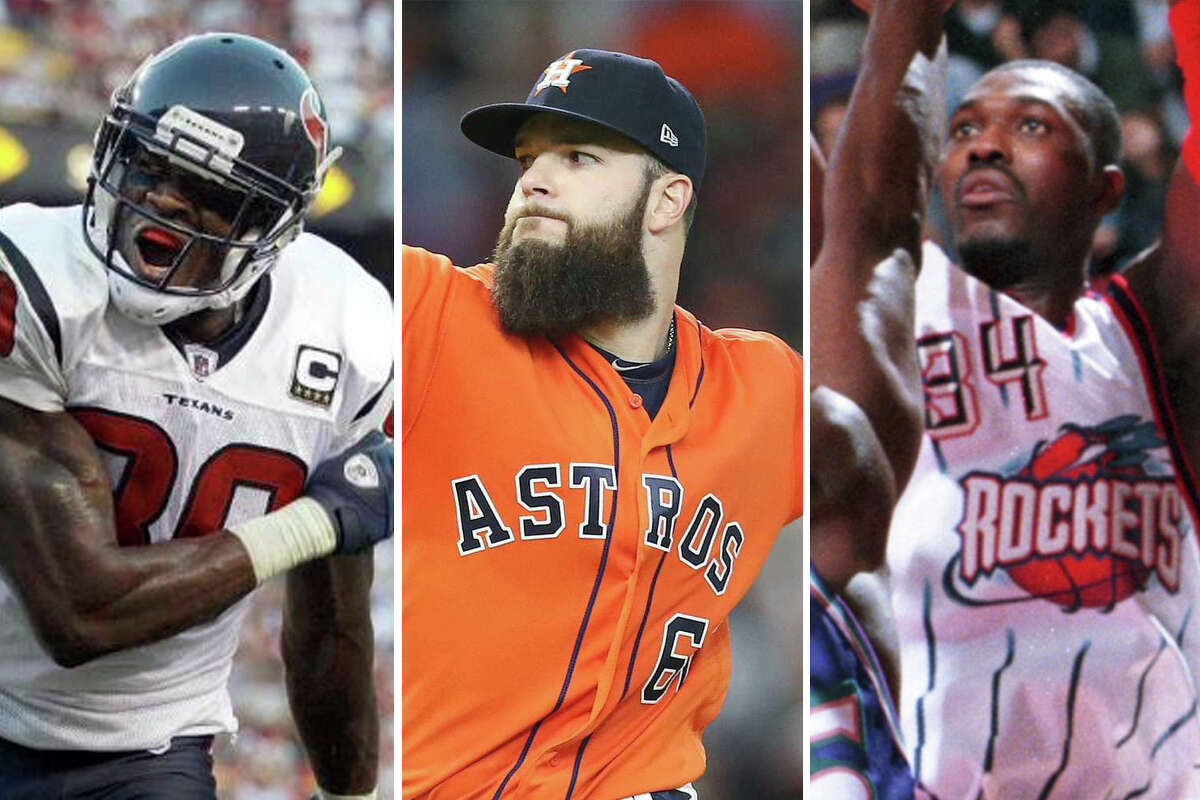 Andre Johnson, Dallas Keuchel and Hakeem Olajuwon are among the Houston sports stars that their respective teams let walk away. >> Click through the gallery to see the full list.