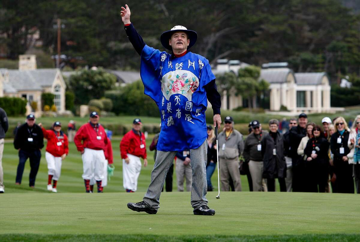 Comedian Bill Murray, a fixture at the AT&T Pebble Beach Pro-Am, is being forced to sit out this year's tournament. Coronavirus concerns have led organizers to limit participants mext month to professional players.