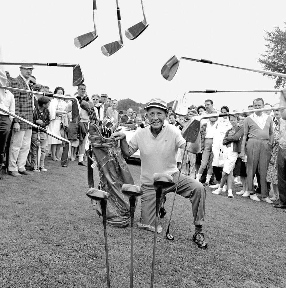Bing Crosby brought what is now the AT&T Pebble Beach Pro-Am to the Monterey Peninsula in 1947. Photo: Gene Herrick / Associated Press 1963 / 1963 AP