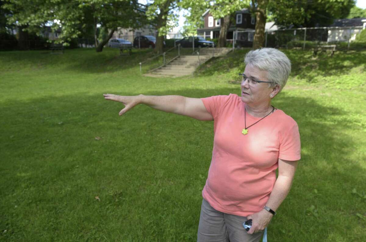 Parks and Recreation Department Director Eileen Earle in Parloa Park in Bethel, Conn, on Thursday afternoon, June 6, 2019.