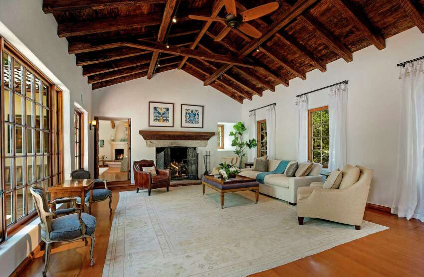 Jeff Bridges and wife Susan Geston are seeking about $8 million for their four-acre estate in Montecito. The couple sold another estate in the area two years ago for about $16 million.The Spanish Revival-style home, designed by James Osborne Craig, features a beamed-ceiling living room, hardwood floors and walls of windows that bring in leafy views. Redwoods, oak groves, orchards and lush gardens are among flora found on the verdant estate. There's also a guest house, a pool house and a horse facility.(Eric Foote/Los Angeles Times/TNS)